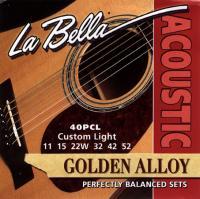 Струны для акустической гитары La Bella 40PCL
