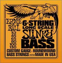 Струны для 6-ти струнной бас гитары ERNIE BALL 2838 Super