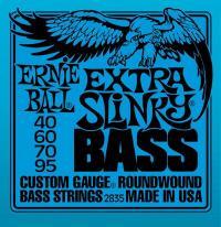 Струны для 4-х струнной бас гитары ERNIE BALL 2835 Extra