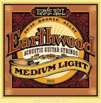 Струны для акустической гитары ERNIE BALL 2003 Earthwood® 80/20 Bronze