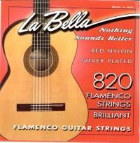 Струны для классической гитары La Bella 820 Flamenco