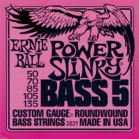 Струны для 5-ти струнной бас гитары ERNIE BALL 2821 Power