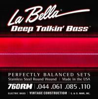 Струны для 4-струнной бас-гитары La Bella Deep Talkin Bass 760RM