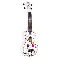 Гитара гавайская Укулеле MAHALO UART-AM сопрано белый с рисунком