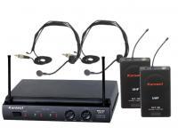 Купить  Радиосистема с 2-мя головными микрофонами KARSECT   KRU302/HT-2A в кейсе