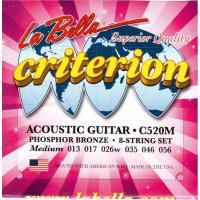 Струны для акустической гитары La Bella C520M