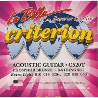 Струны для акустической гитары La Bella C520T