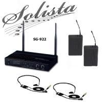 Купить Радиосистема с 2-мя головными микрофонами SOLISTA SG-922 (HS) в кейсе