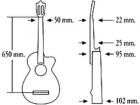 Испанская гитара со звукоснимателем ALMANSA 403 купить в Москве