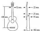 Испанская классическая гитара ALMANSA 424
