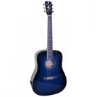 Купить Гитара акустическая ALICANTE Titanium MBL широкий гриф синего цвета