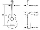 Испанская гитара три четверти ALMANSA 401 Cadete